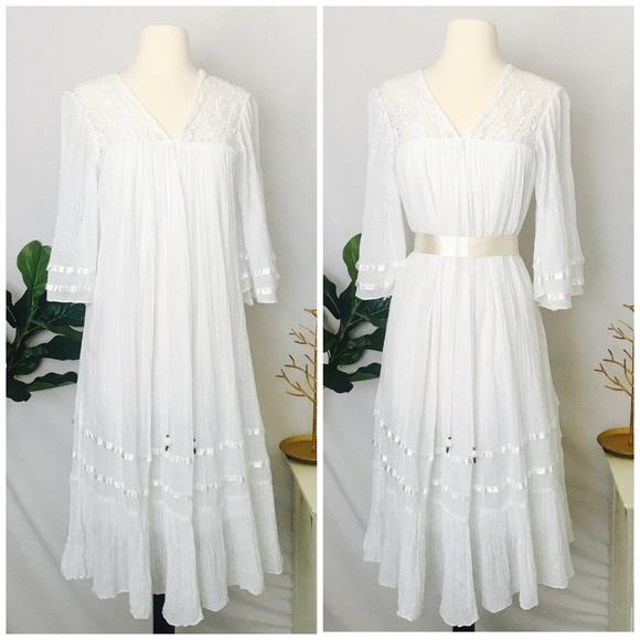 bc649c69380ea MIGUELINA | Lace Cotton White Boho Maxi Dress XS. Miguelina.  M_5a9c5bc072ea88e806d412ea. M_5a9c5bc245b30ca3c7369a57.  M_5a9c5bc485e605dfc6f1e06d